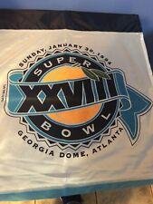 Vintage Super Bowl Sunday January 30 1994,Georgia Dome Atlanta Flag