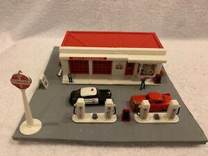 Bachmann HO Scale Standard Service Station Kit Custom Assembled