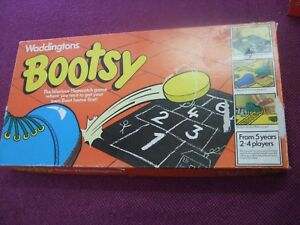 """Waddingtons """"Bootsy"""" Hopscotch board game from 1980. Complete."""