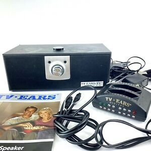 TV Ears Wireless Television Speaker Digital Transmitter AC Adapters Optical Cord