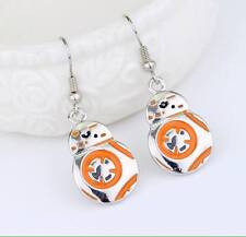 NEW Star Wars The Force Awakens BB8 Pair Robot Drop Silver Plated Earrings
