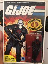 G.I. Joe Cobra Mortal Invasor 1982 83 Snake Eyes Black Major Mirrored Chrome