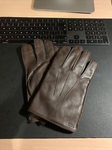 Polo Ralph Lauren Leather Gloves Brown XL