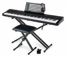 B-WARE Digital 88 Tasten Keyboard E-Piano Stage Piano X-Ständer Hocker Kopfhörer
