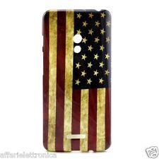 custodia cover case gel GOMMA SILICONE SLIM america usa X ASUS ZENFONE 5 A500KL