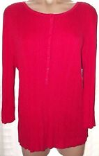 Fashion Bug 1X Red ribbed knit 3/4 sleeve pull over Sweater