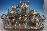Modernic by Gorham Sterling Silver Tea Set 6pc & Tray #1818B (#1918) Grapes