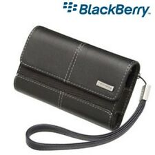 Genuine BlackBerry 8900 Folio Leather Case Black & carry strap Hdw-18966-001