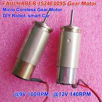 FAULHABER DC Micro Gear Motor 1524E009S 12V 140RPM 15/3, 141:1 DIY Robot Car