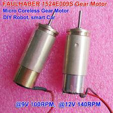 FAULHABER Micro Coreless Gear Motor 1524E009S DC 12V 140RPM 15/3 141:1 Robot Car