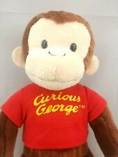 """Curious George Universal Studios 10"""" Plush Beanie Toy Monkey Red T-Shirt Gift"""