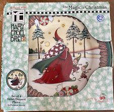 Mary Englebreit The Magic Of Christmas Sald/ Desert Plates