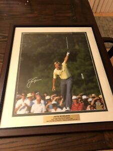 Jack Nicklaus Signed Framed 16x20 W/Name Plate Fanatics 0520357