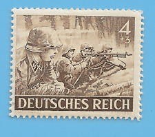 Germany Third Reich 1943 German Army Soldiers 4+3 Stamp MNH WW2 ERA #69