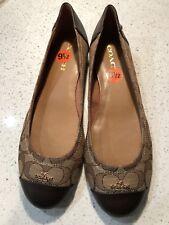 NEW Coach Chelsea Women's Brown Ballet Flats Shoes Size 7.5
