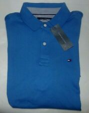 NWT Mens Tommy Hilfiger S/S Polo Shirt~Slim Fit~Blue~SZ LRG