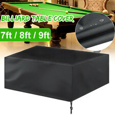 7'8'9' Pool Table Cover Heavy Duty Fitted Billiard Cover Leatherette Waterproof