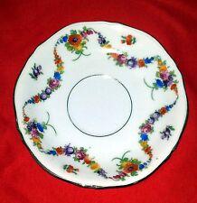 "EPIAG Czechoslovakia (White Emboss) Dresden Flowers 9954-9515 - Saucer 5 3/4"""
