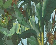 Splendida CARTA DA PARATI Dekora natura 6 as 95898-1 giungla piante lussuriose VERDE MARRONE BLU