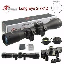 AIM SPORTS Long Eye Relief 2-7x42 Scope w/ Rings