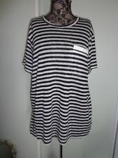 Short Sleeve Basic Tee Hand-wash Only Striped T-Shirts for Women