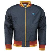 Nike Swoosh Full Zip Up Long Sleeved Mens Bomber Jacket Coat Navy 185294 401 M18