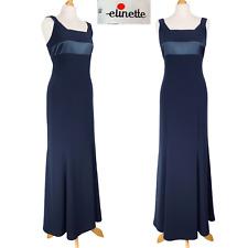 Vintage Elinette Long Formal Dress Bolero Jacket Two Piece Navy Blue Occasion