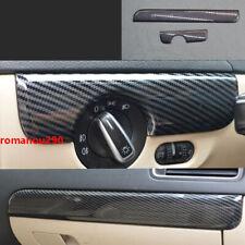 For VW Jetta 2011-2018 Carbon Fiber Look Center console moulding Cover Trim 2pcs