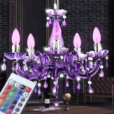 RGB LED Hänge Lampe Kronleuchter Fernbedienung Wohnzimmer Luster Strahler DIMMER