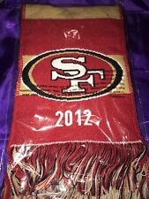 """49ers """"go Niners"""" Scarf 2012"""
