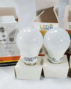 X2 800 Lumen LED 60w Light Bulb, Day Light 9w LED 2 Lights Bulb 6500k Home Ligh