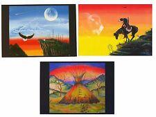 Postkarte Indianer Kunst Druck: Robert Lee Apple Lakota Sioux USA, One Spirit