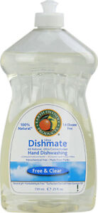 Dishmate Liquid Dishwashing Cleaner, 25 oz Free & Clear