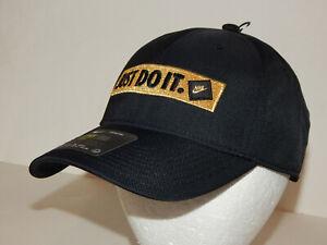 Nike Legacy91 Just Do It Cap / Hat JDI Snapback Black / Gold CK1317-011 Unisex