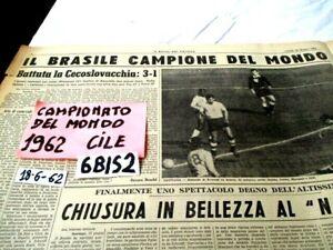 CALCIO CAMPIONATO DEL MONDO CILE 1962  VITTORIA DEL BRASILE   (6BIS2)