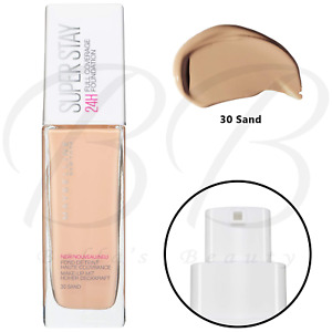MAYBELLINE Super Stay 24H Full Coverage Liquid Foundation 30ml - 30 Sand *NEW*