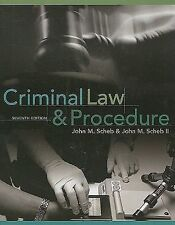 Criminal Law and Procedure by John M., II Scheb (2010, Hardcover)