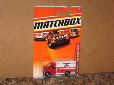 Matchbox '08 Ford E-350 Ambulance San Luis Obispo CA Fire Dept Rescue Paramedic