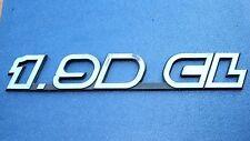 VOLKSWAGEN VW 1.9 CL / 1.9CL BOOT BADGE / Emblem for GOLF HATCHBACK 1992-1998