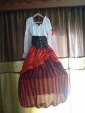Pirate girl Halloween costume girl's - size S (7-8)