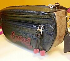 Coach Pebble Leather Belt Bag  F76748 Fanny Pack Waist Bag Retail $298 New w Tag