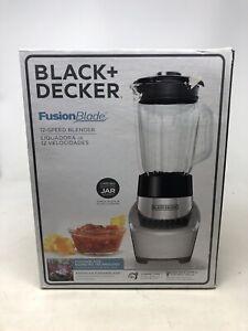 BLACK+DECKER FusionBlade Blender w/6-Cup Glass Jar, 12-Speed Settings, Silver,