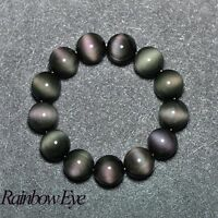 Natural stone jewelry 6A level rainbow obsidian eye bracelets bracelet wholesale