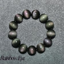 Elegant Natural stone jewelry 6A level rainbow obsidian eye bracelets bracelet