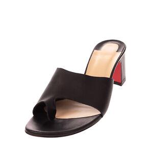RRP €465 CHRISTIAN LOUBOUTIN Leather Thong Mule Sandals EU 40 UK 7 US 10 Heel