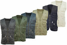 Mens Multi Pocket Utility Vest   Waistcoat   Fishing   Travelling   Hiking