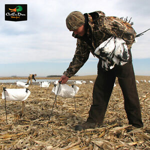 NEW WHITE ROCK DECOY COMPANY SNOW GOOSE WIND SOCK HUNTING DECOYS DOZEN