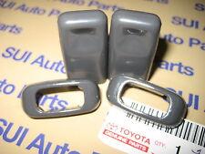 Toyota Pickup Truck 4Runner Interior Door Lock Knob & Insert Bezels 1989-95 Gray