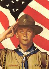 Norman Rockwell Bsa Boy Scout Print We Too 1944