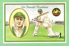 #Zz9. One Hundred(100) 1997 Sir Donald Bradman Cricket Unsent Postcards